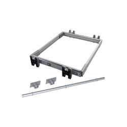 Kit de coulisses et porte-pantalons Keeper pour module 900 mm finition anodisé mat de marque EMUCA, référence: B4911800