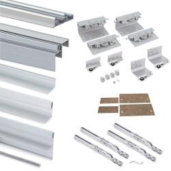 Armoire Space+ 2 portes avec profils Free rapid et fermeture amortie de marque EMUCA, référence: B4921000