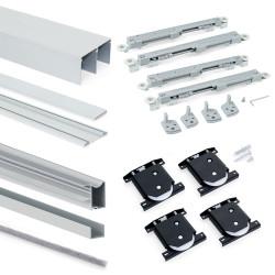 Armoire Placard 2 portes avec profils Wave16 et fermeture amortie de marque EMUCA, référence: B4921300