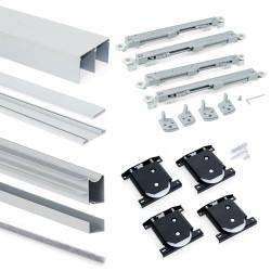 Armoire Placard 2 portes avec profils Wave18 et fermeture amortie de marque EMUCA, référence: B4921400