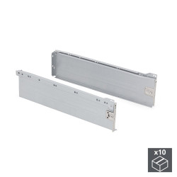Lot de 10 kits de tiroir Ultrabox hauteur 150 mm et profondeur 400 mm finition gris métallisé de marque EMUCA, référence: B4930800