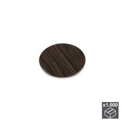Lot de 1.000 pastilles adhésives D. 13 mm finition wengué de marque EMUCA, référence: B4933100
