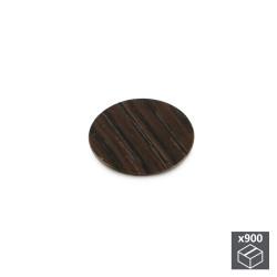 Lot de 900 pastilles adhésives D. 20 mm finition wengué de marque EMUCA, référence: B4933500