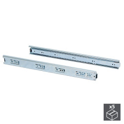Lot de 5 paires de coulisses à billes pour tiroir à sortie totale 45 mm x L 350 mm de marque EMUCA, référence: B4942700