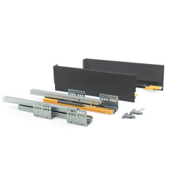 Kit de tiroir Concept hauteur 105 mm et profondeur 300 mm finition gris anthracite de marque EMUCA, référence: B4946800