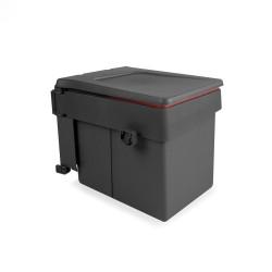 Poubelle de recyclage Recycle pour fixation sur porte et conteneur de 15L de marque EMUCA, référence: B4949300