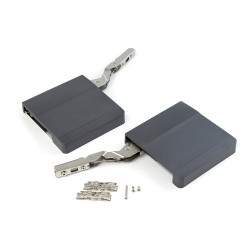 Compas pour porte relevable Agile H couleur gris anthracite de marque EMUCA, référence: B4952900