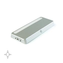 Luminaire LED rechargeable Kraz avec détecteur de mouvement en couleur paint aluminium de marque EMUCA, référence: B4954900