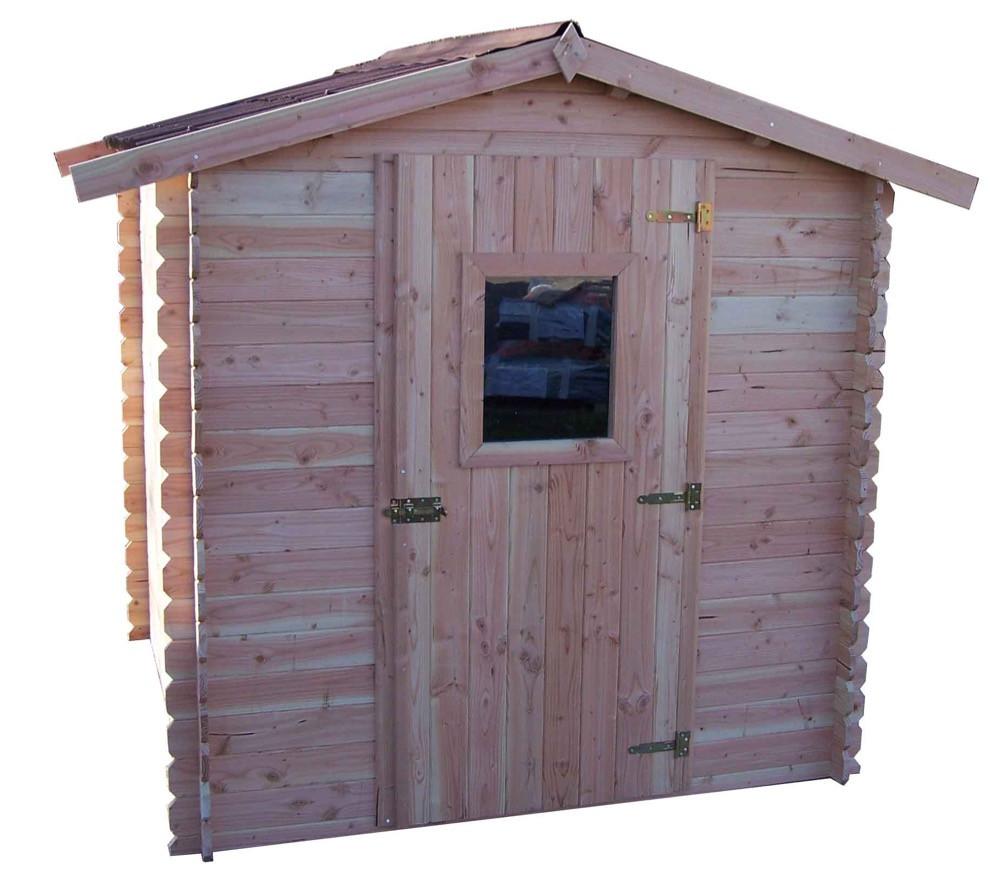 Abri DALIA madriers Douglas 20 mm sans plancher toit double pente 4,28 m²