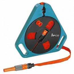 Dévidoir d'arrosage portable à tuyau plat 20 m de marque GARDENA, référence: J78900