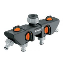 Sélecteur d'arrosage sur robinet 4 circuits de marque GARDENA, référence: J347900