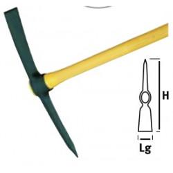 Pioche terrassier douille ovale 2kg sans manche de marque Leborgne, référence: J662800