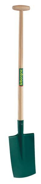 Bêche à rebord - 28 cm Manche béquille en bois certifié PEFC 100%