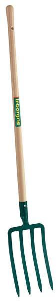 Fourche à bêcher douille 30 cm - manche en bois pomme