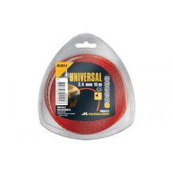 Fil nylon rond de débroussailleuse NLO014 2,4mm x 15 m Anti-Bruit de marque McCULLOCH, référence: J551900