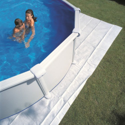 Tapis de sol 5,50m x 5,50m pour piscine Ø5,50m, épaisseur 100g/m² de marque GRE POOLS, référence: J647300
