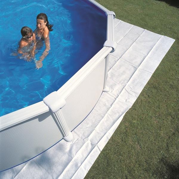 Tapis de sol 5,50m x 5,50m pour piscine Ø6,50m, épaisseur 100g/m²
