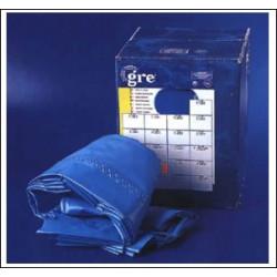 Liner 0,40 bleu uni piscine ovale 6,10m x 3,75m x 1,20m de marque GRE POOLS, référence: J643100