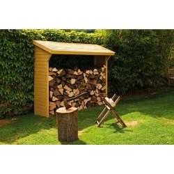 Abri bûches toit bois 2 stères de marque Jardipolys, référence: J459900