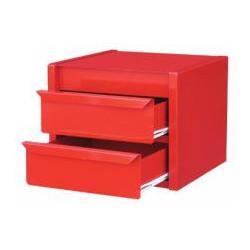 Bloc 2 tiroirs rouge de marque OUTIFRANCE , référence: B329400