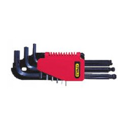 Jeu de 9 clés mâles têtes sphériques de marque STANLEY, référence: B464800