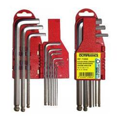 Jeu de clés 6 pans à rotule sur support de marque OUTIFRANCE , référence: B464600