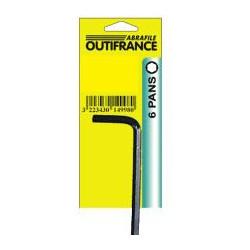 Clé 6 pans 2,5 mm de marque OUTIFRANCE , référence: B462500