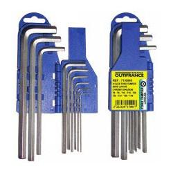 Jeu de clés Torx Tamper sur support de marque OUTIFRANCE , référence: B465200