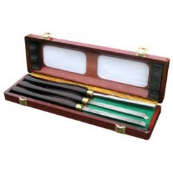 3 Outils de tourneur manche bois Pro de marque OUTIFRANCE , référence: B278300