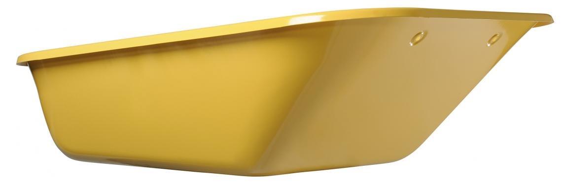 Caisse de brouette peinte jaune 160 L - 6 trous