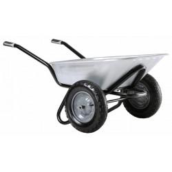 Brouette Aktiv Excellium 100 twin galva roues gonflées de marque HAEMMERLIN, référence: J685200